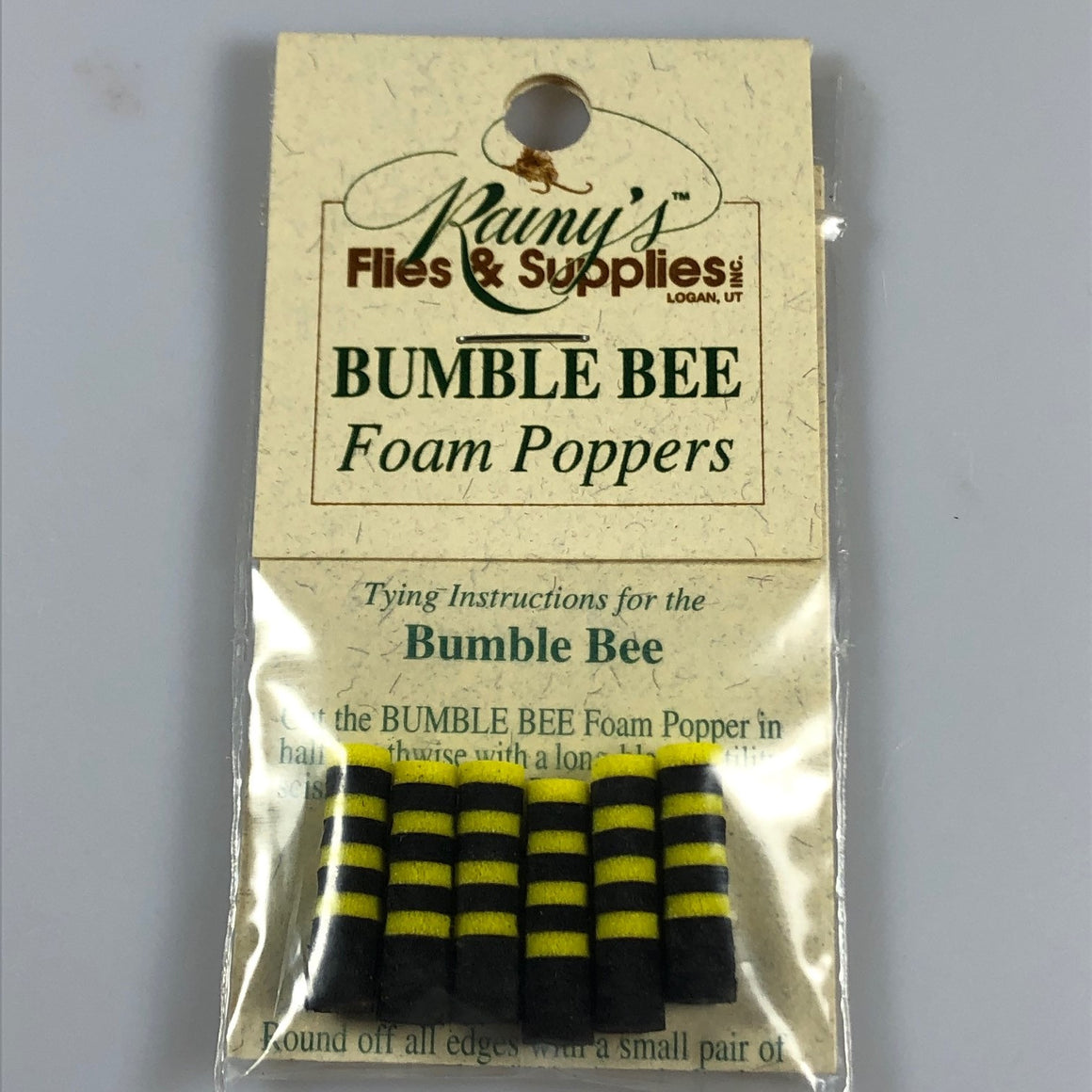 Bumble Bee Foam Poppers - 3/16""