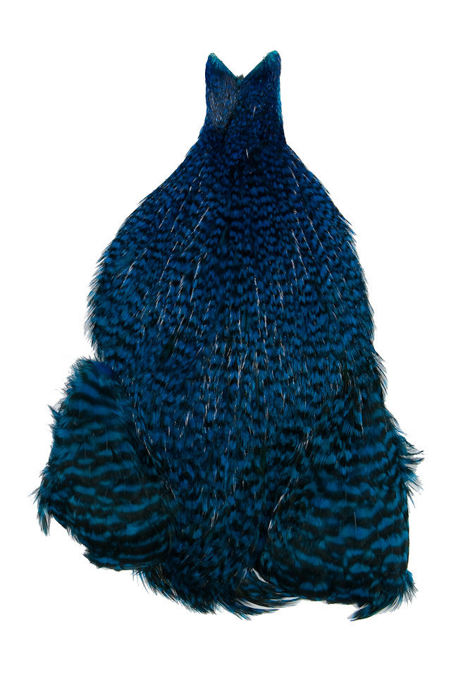 4B's Rooster Cape - Grizzly Kingfisher Blue