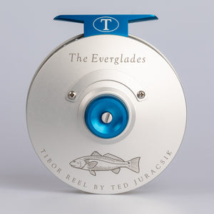 Tibor Reels - The Everglades - Frost Silver - Custom Redfish Engraving