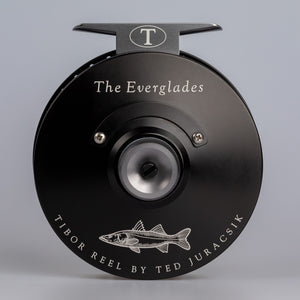 Tibor Reels - The Everglades - Frost Black - Custom Snook Engraving