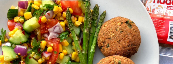 Hot & Tangy Meatless Burgers