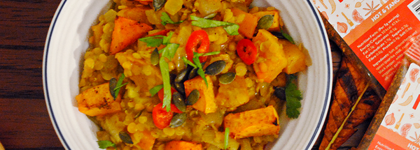 Vegan 3 Squash Curry with Apple & Lentils | Gluten free
