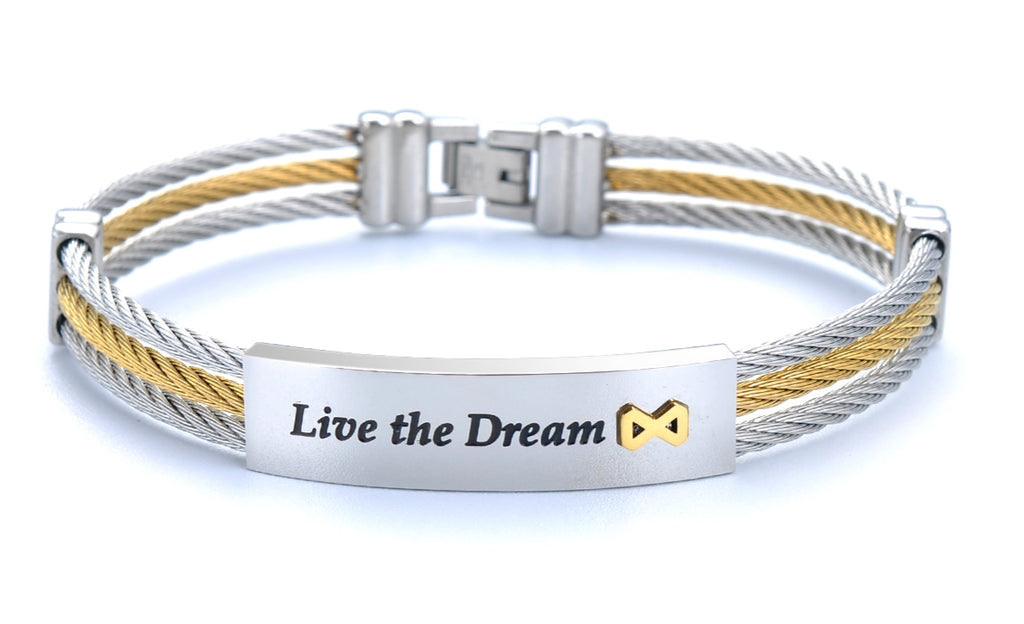 Live the Dream Silver Bracelet - Infinite Reminders