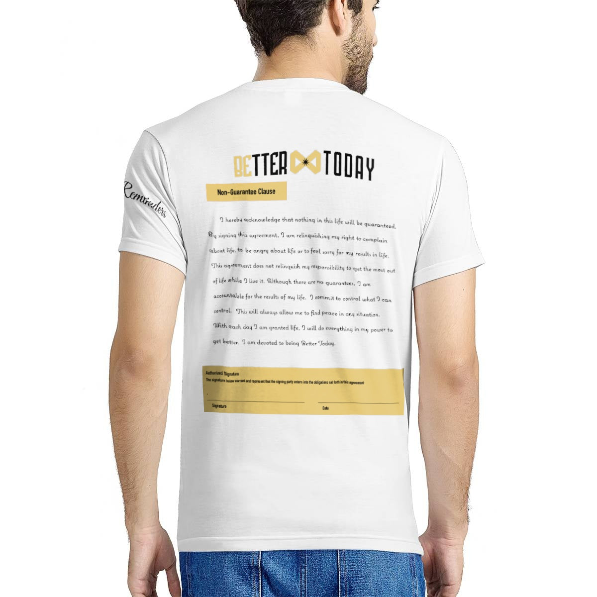 Better Today Non-Guarantee T-shirt