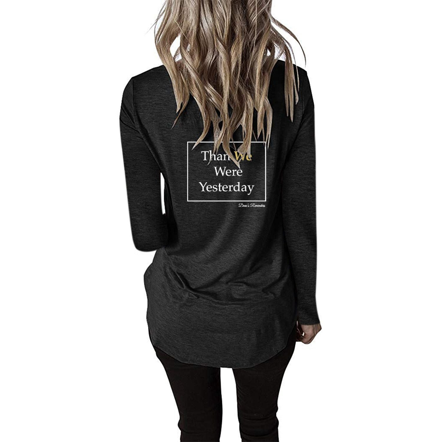 Better Today Women's V Neck Long Sleeve
