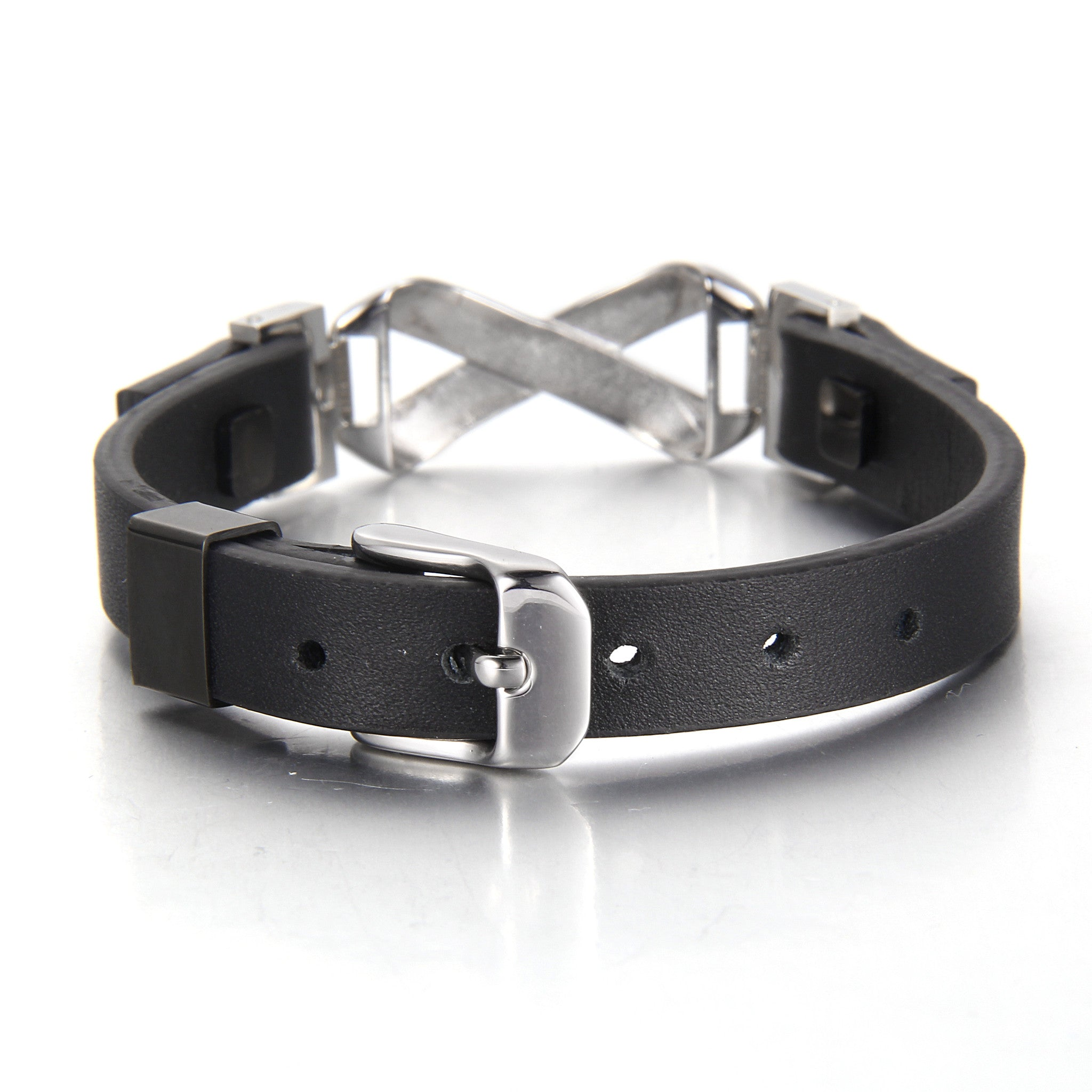 Be Grateful Black Leather Bracelet - Infinite Reminders
