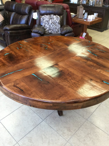 custom mesquite table