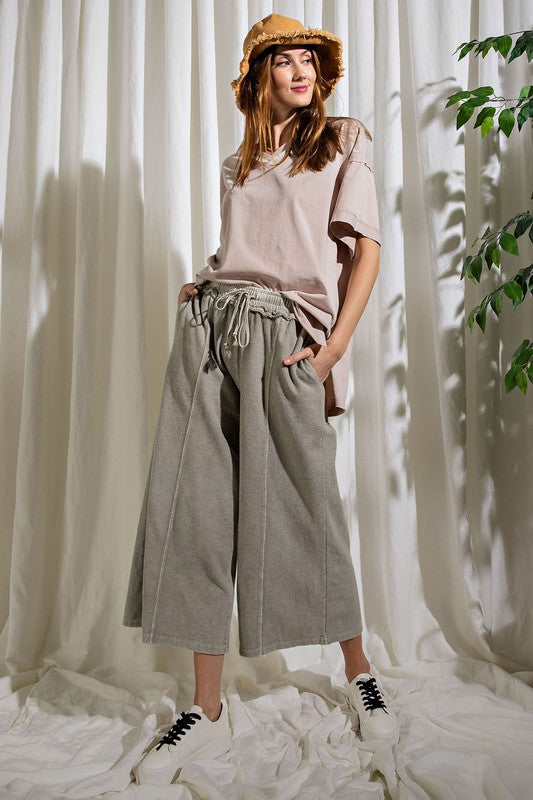 Ash Grey Gaucho Pants