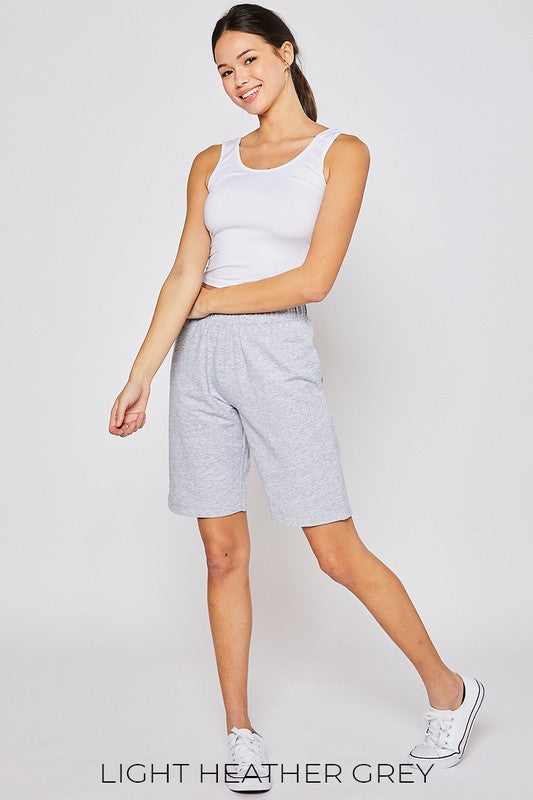 Ultra Soft Light Grey Bermuda Shorts
