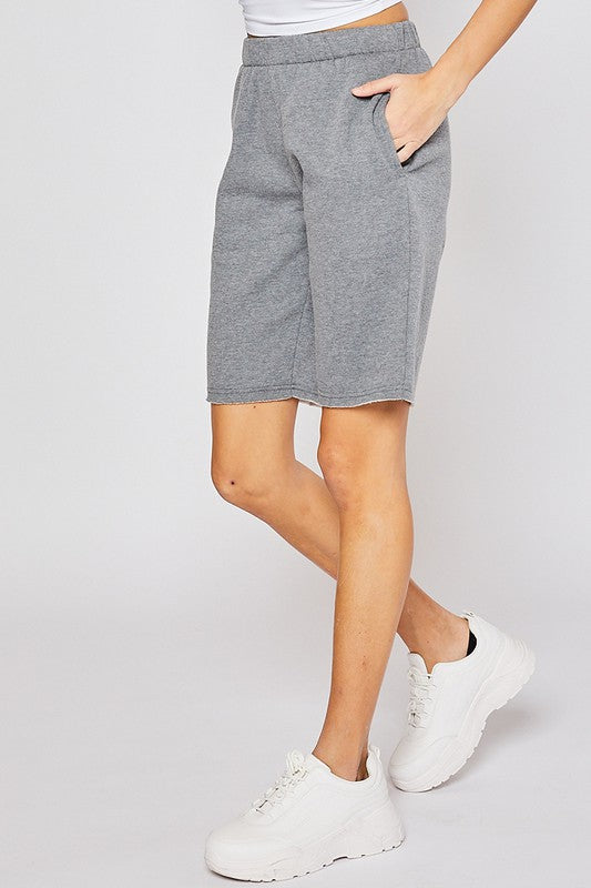 Ultra Soft Grey Reflex Bermuda Shorts