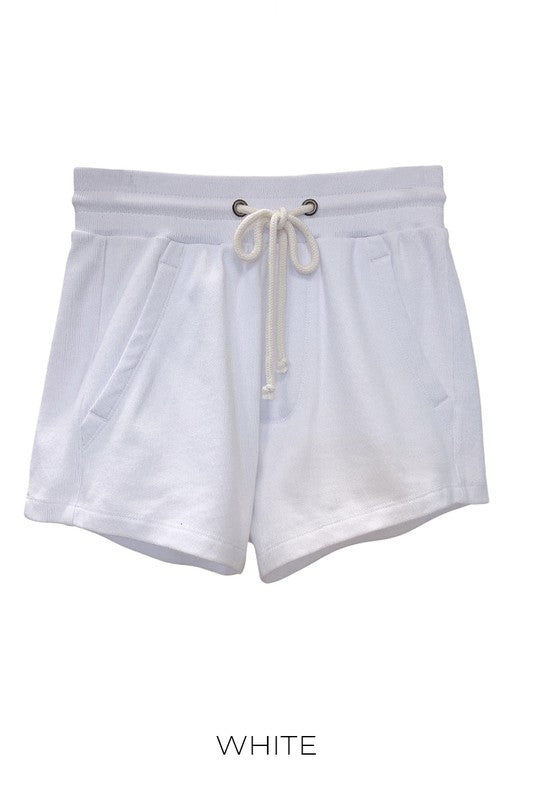 White Ultra Soft Basic Shorts