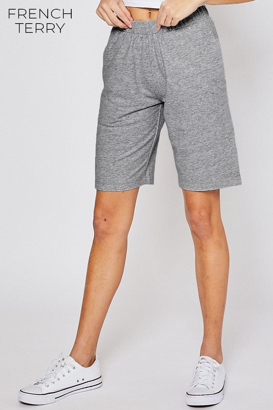 Heather Gray Bermuda Reflex Shorts