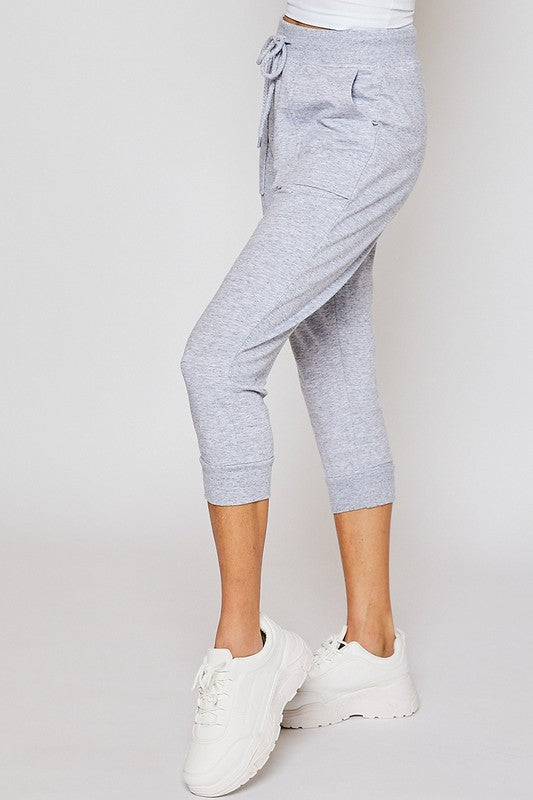 Boyfriend Reflex Capri In Grey