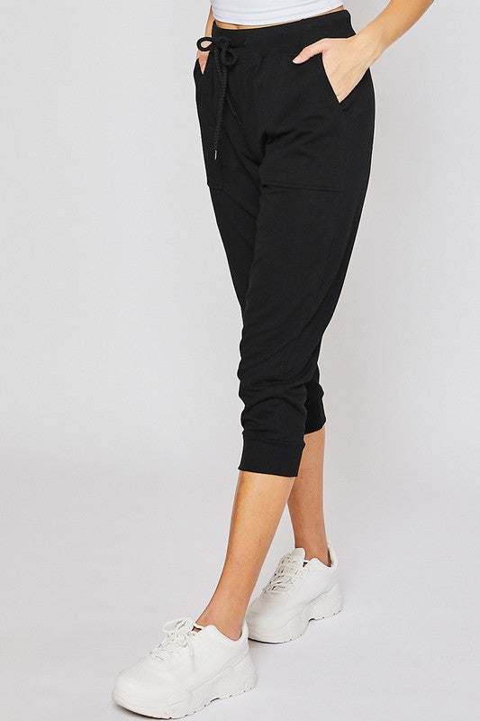 Boyfriend Reflex Capris In Black