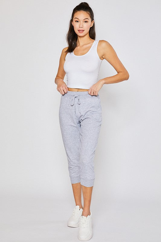 Light Heather Oversized Capri