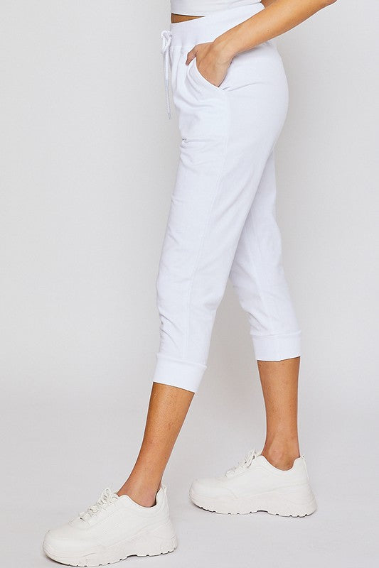 White Oversized Capri