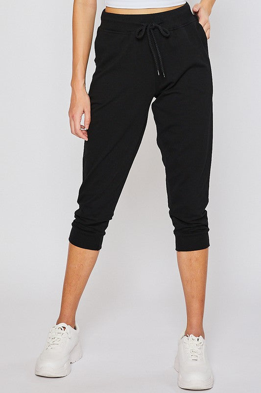 Black Oversized Capri