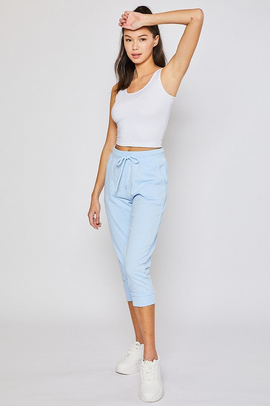 Light Blue Oversized Capri