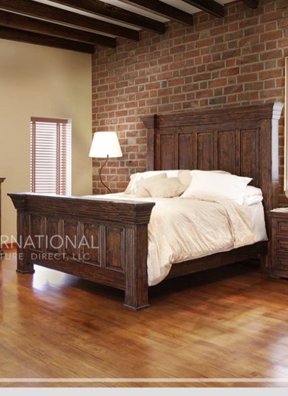 Terra King Bed - Brown