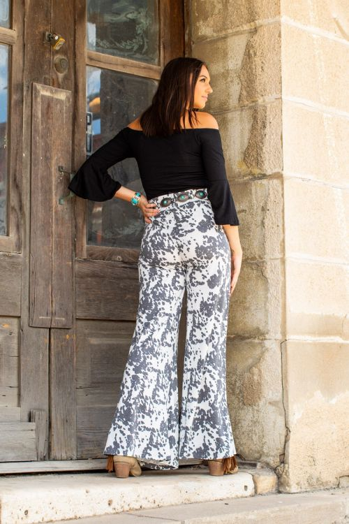 Samantha Wide Leg Pants- Cowhide