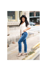 Darkus Boyfriend Jeans - Midwash