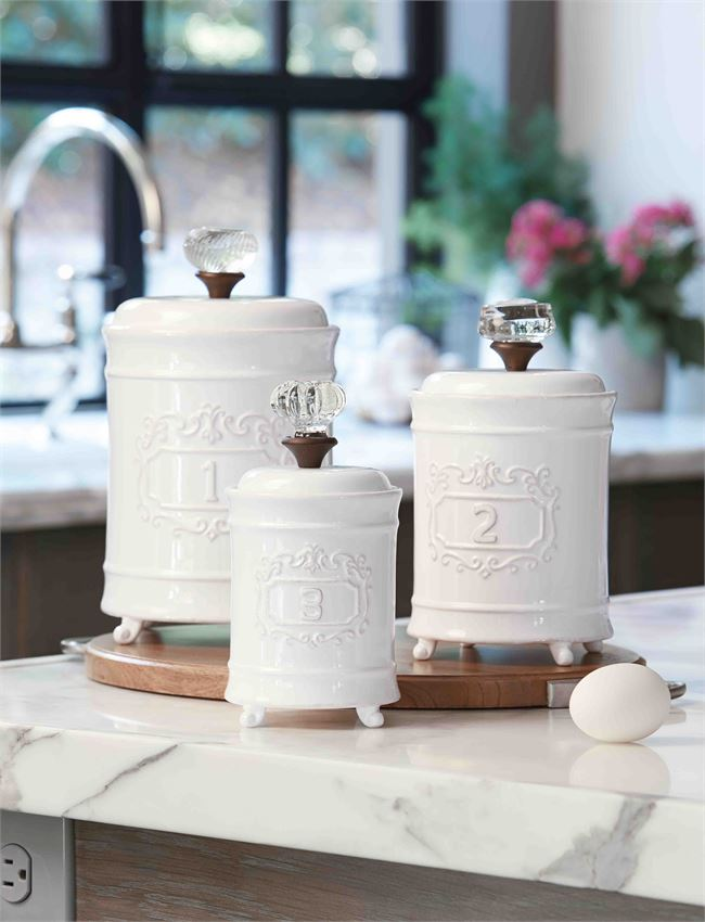 Mudpie Canister 3 Piece Set