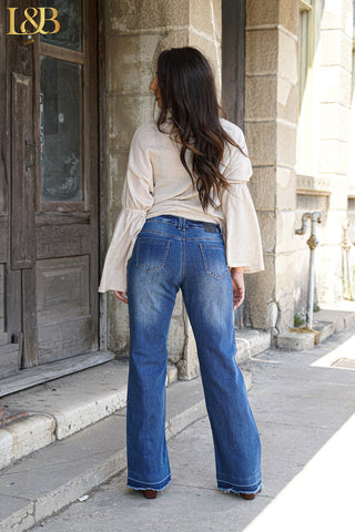 Dark Wash Wide Leg Jeans