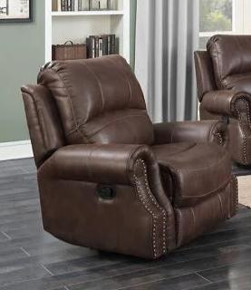 Mackenzie Chocolate Brown Recliner