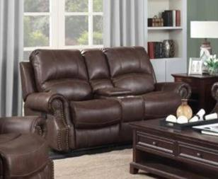 Mackenzie Chocolate Brown Loveseat