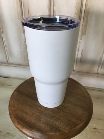 White 30 oz Our Cups