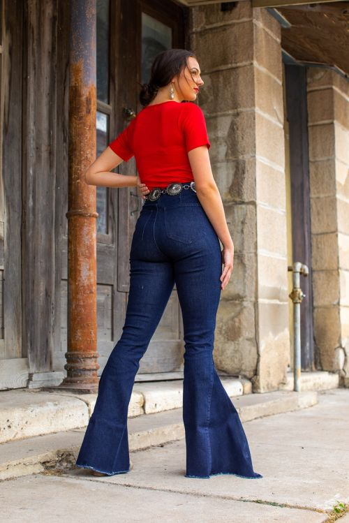 Maysilee High Waisted Bell Bottom Jeans