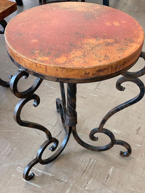 Copper and Iron End Tables