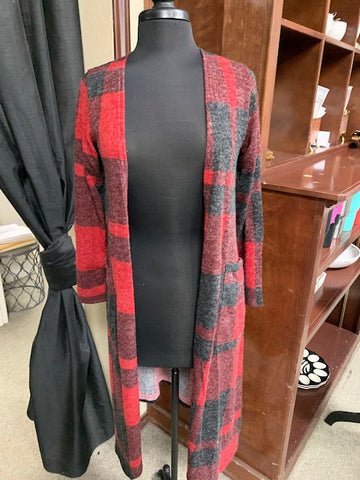 Heather Buffalo Plaid Vest
