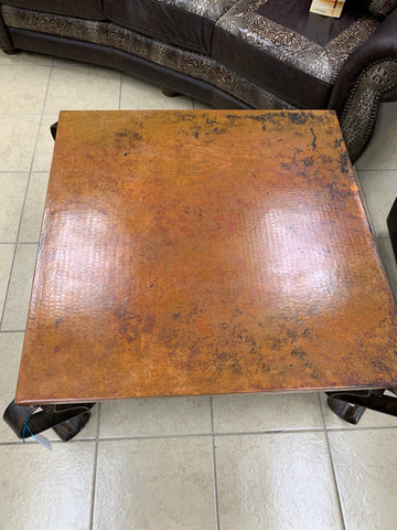 Square Copper Coffee Table
