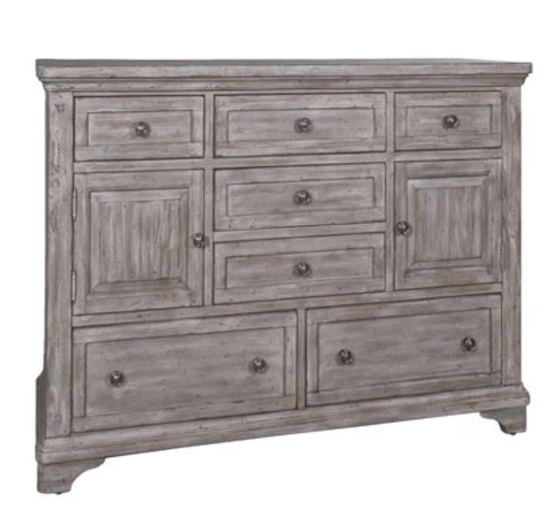 Highland 7 Drawer 2 Door Dresser