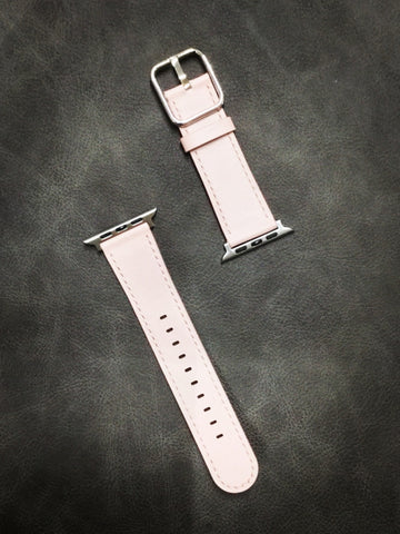 Light Pink Leather Watch Band