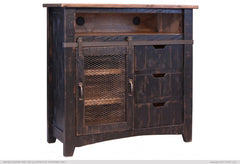 Pueblo Media Chest - Black