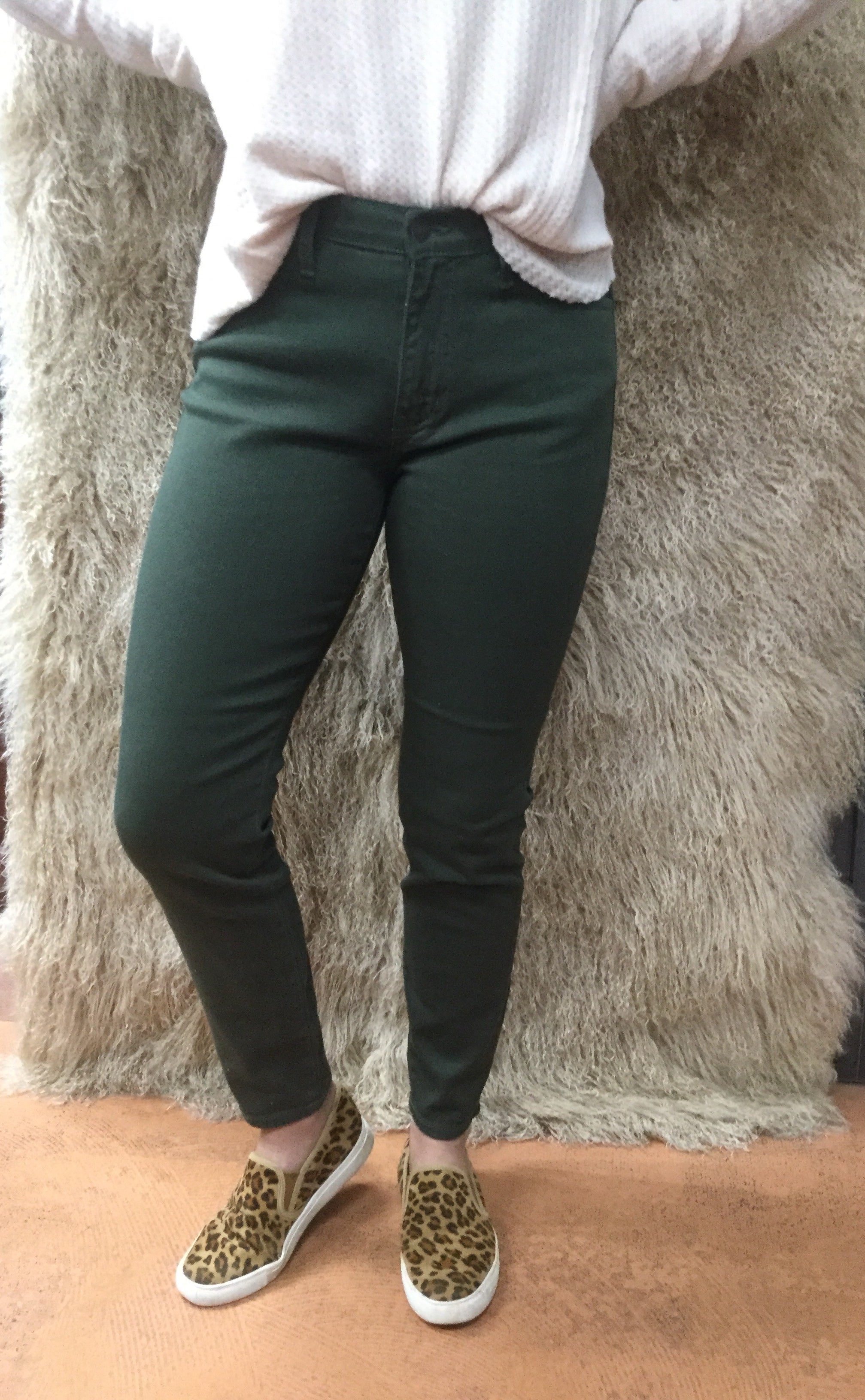 Ginny Olive Jeans
