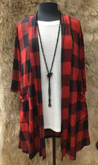 Hailey Cardigan- Red