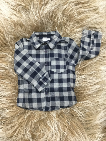 Blue Flannel Button Down