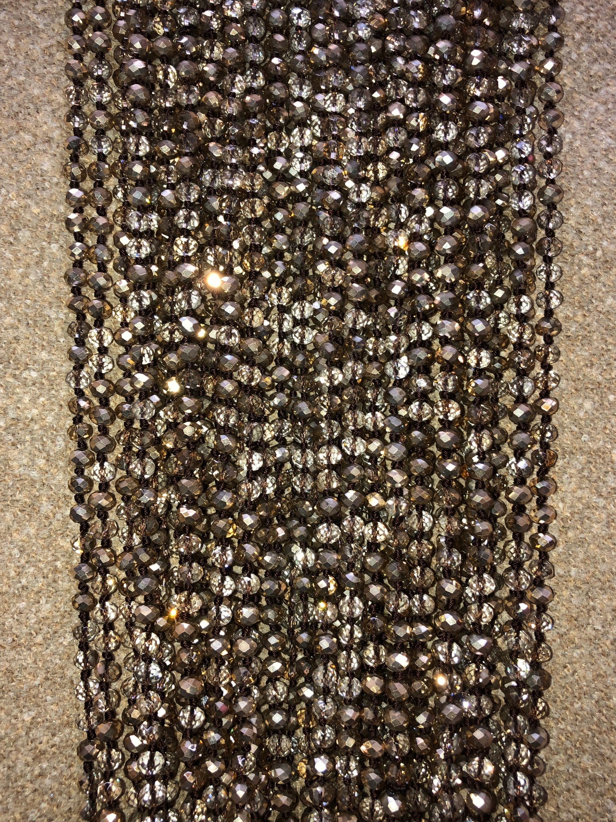 Gold Iridescent Crystal Bead