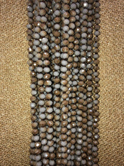 Graphite Grey/Tan Mix Crystal Bead