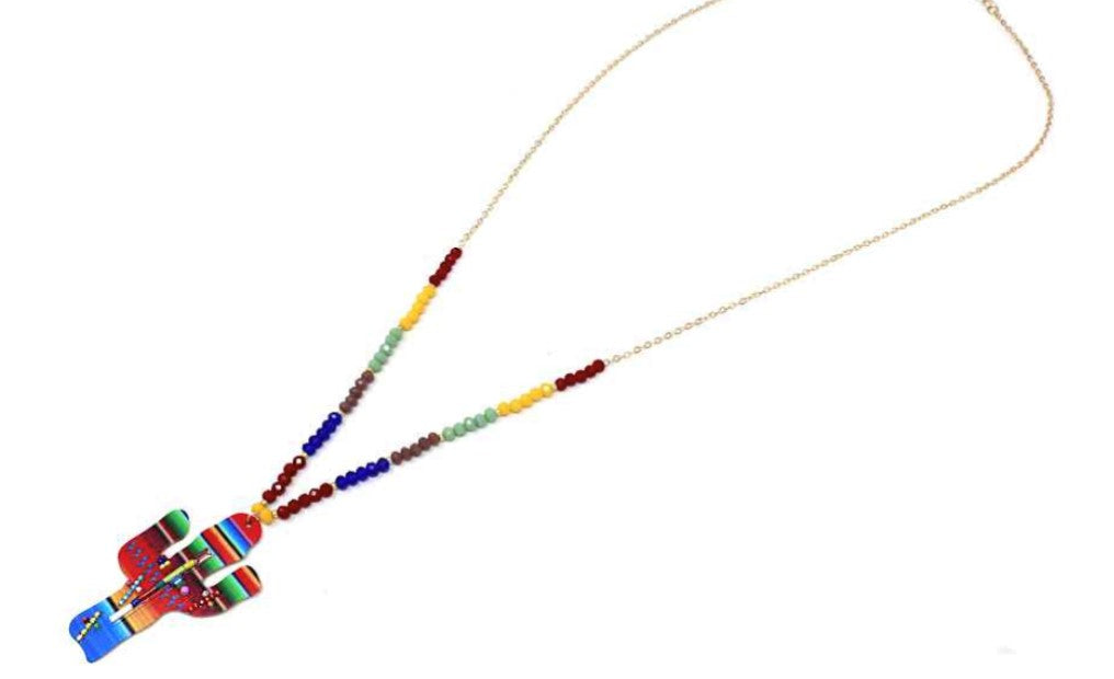 Cactus Multi Long Seed Bead Necklace