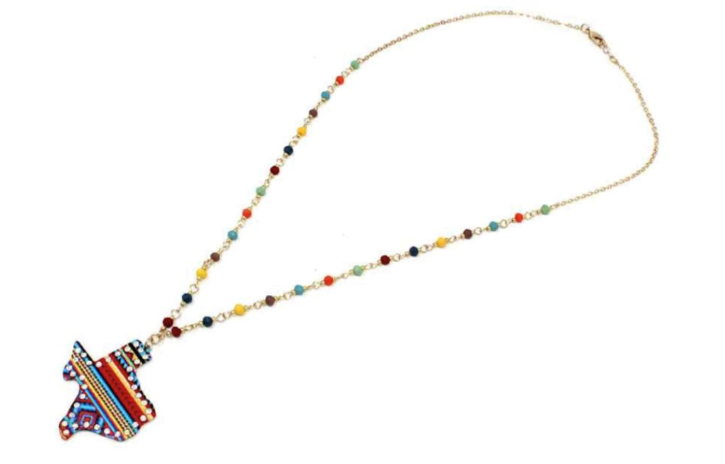 Texas Multi Long Seed Bead Necklace