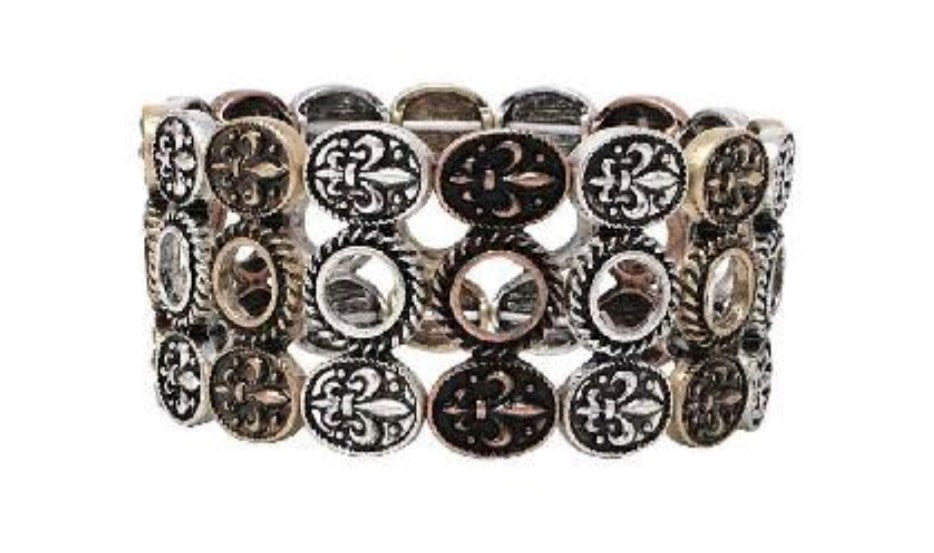 Triple Layer Mixed Concho Bracelet