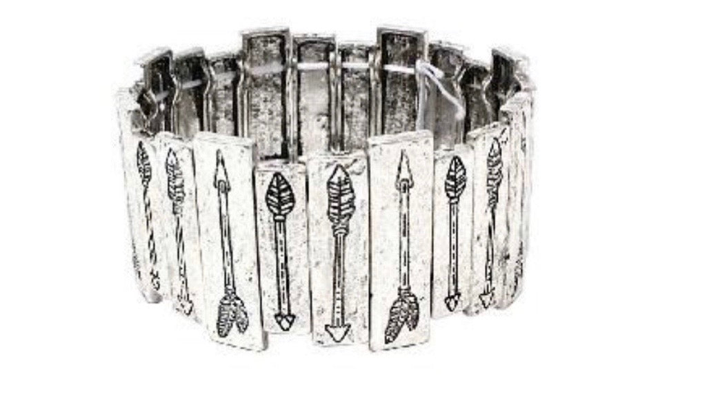 Silver Boxed Arrow Bracelet