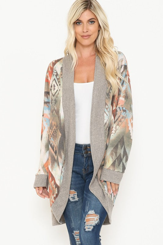 Journi Cardigan- Taupe