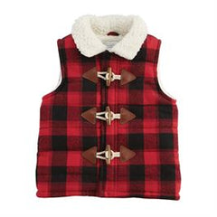 Sherpa Buffalo Check Vest