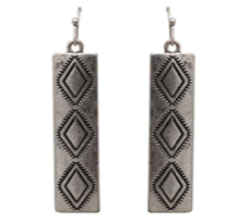 Silver Aztec Dangle Earrings