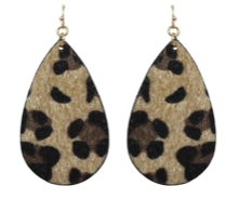 Leopard Hide Teardrop Earrings